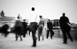 Businessmen Walking To Their Workplace Stock Photo