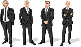 Businessmen wearing suits Stock Photography