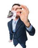 Businessmen on white Stock Image