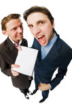 Businessmen on white Royalty Free Stock Images