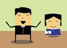 Businessmen and women. Secretary illustration Royalty Free Stock Photos