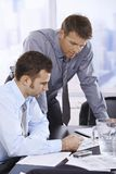 Businessmen at work Royalty Free Stock Photo