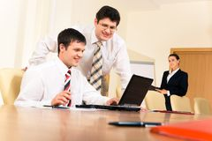 Businessmen at work Stock Photography
