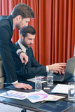 Businessmen at work Stock Image
