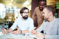 Businessmen at work Royalty Free Stock Photography