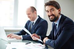 Businessmen at work Royalty Free Stock Image