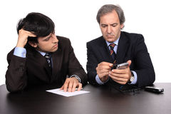 Businessmen working royalty free stock images