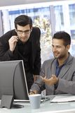 Businessmen working with computer Royalty Free Stock Photography