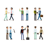 Businessmen Working Concept Collection on White Stock Photos