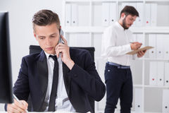Businessmen working with documents Royalty Free Stock Photo