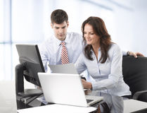 Businessmen working with his colleague Royalty Free Stock Photography