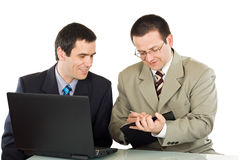 Businessmen working in the office Royalty Free Stock Images