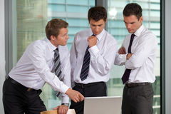 Businessmen working in office Royalty Free Stock Images