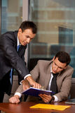 Businessmen working in office Stock Photos