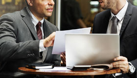 Businessmen Working Technology Paper Concept Royalty Free Stock Photos
