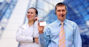 Businessmens calling by phone Stock Photography