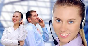 Businessmens calling by phone Royalty Free Stock Images