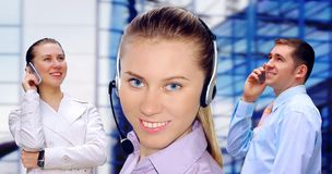 Businessmens calling by phone Stock Images