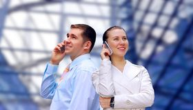 Businessmens calling by phone Stock Photo