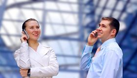 Businessmens calling by phone Stock Photos
