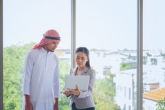 Businessp man Arab eople With Digital Tablet In Office, People M. Businessp men Arab eople With Digital Tablet In Office, People Meeting Discussion Working royalty free stock image
