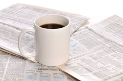 Businesspapers and cup of coffee Royalty Free Stock Photos