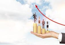 Businesspeolpe e crescita di carriera Fotografia Stock Libera da Diritti