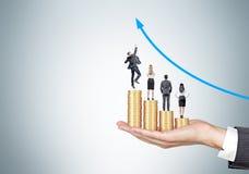 Businesspeolpe en carrière de groei Stock Foto's