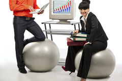Businesspeoople doing exercise Stock Image