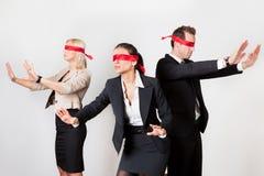 businesspeople αποπροσανατολισμένη &o Στοκ φωτογραφία με δικαίωμα ελεύθερης χρήσης