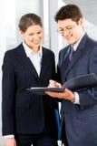 businesspeople δύο στοκ εικόνες