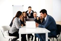 businesspeople εργασία lap-top Στοκ Εικόνα