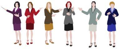 businesspeople παρουσίαση διανυσματική απεικόνιση