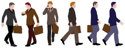 businesspeople περπατώντας απεικόνιση αποθεμάτων