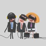 Businesspeople που απολαμβάνει με το σύνολο VR Στοκ εικόνες με δικαίωμα ελεύθερης χρήσης