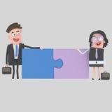 Businesspeople που κάνει έναν γρίφο Καλή τακτοποίηση Στοκ εικόνα με δικαίωμα ελεύθερης χρήσης