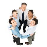 Businesspeople που κάνει τη συσσώρευση στοκ φωτογραφίες