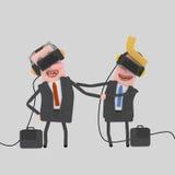 Businesspeople που μιλά με το σύνολο VR Στοκ Εικόνες