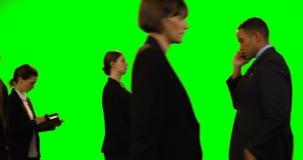 Businesspeople που περπατά και που κάνει τις διάφορες δραστηριότητες απόθεμα βίντεο