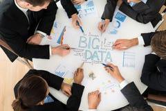 Businesspeople που προγραμματίζει Bigdata Στοκ Φωτογραφίες