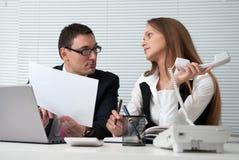 Businesspeople σε ένα γραφείο Στοκ Εικόνες