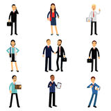 Businesspeople στο εταιρικό σύνολο ιματισμού, διανυσματικές απεικονίσεις χαρακτήρων εργαζομένων Στοκ φωτογραφίες με δικαίωμα ελεύθερης χρήσης