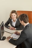 Businesspeople. Businesspeole working in the office Royalty Free Stock Images