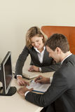 Businesspeople. Businesspeole working in the office Stock Images