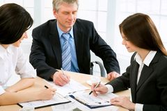 Businesspeople. Work at modern office royalty free stock photos