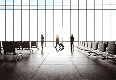 Businesspeople  in airport Stock Photography