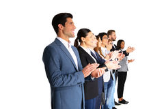 Businesspeople applauding. Group of a businesspeople applauding Stock Photo