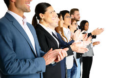 Businesspeople applauding. Group of a businesspeople applauding Royalty Free Stock Image