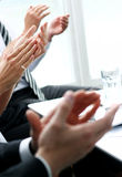 Businesspeople applauding during a meeting Royalty Free Stock Images