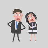 Businesspeople arguing royalty free illustration